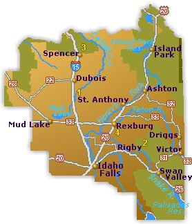 Eastern Idaho Map - Go Northwest! A Travel Guide