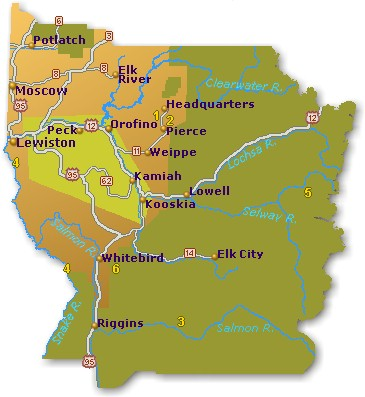 North Central Idaho Map Go Northwest A Travel Guide
