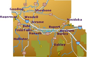 Hagerman Idaho Map.South Central Idaho Map Go Northwest A Travel Guide