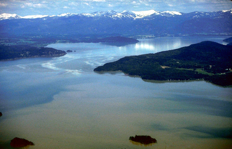 Lake Pend Oreille aerial photo
