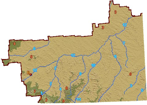 Southeast Montana Relief Map Go Northwest A Travel Guide - Eastern montana map