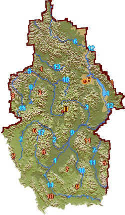 Sapphire Mountains Montana Map.Southwest Montana Relief Map Go Northwest A Travel Guide
