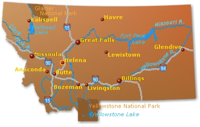 Montana Map With Cities Montana Map   Go Northwest! Travel Guide