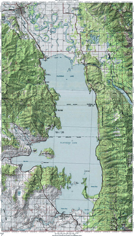Flathead Lake Map Go Northwest A Travel Guide