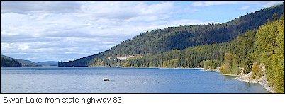 Swan Lake In Northwest Montana