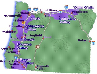 Map of Oregon Wine Country - Go Northwest! A Travel Guide
