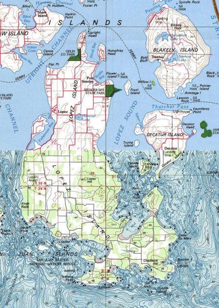 Lopez Island Kayaking Map - Go Northwest! A Travel Guide