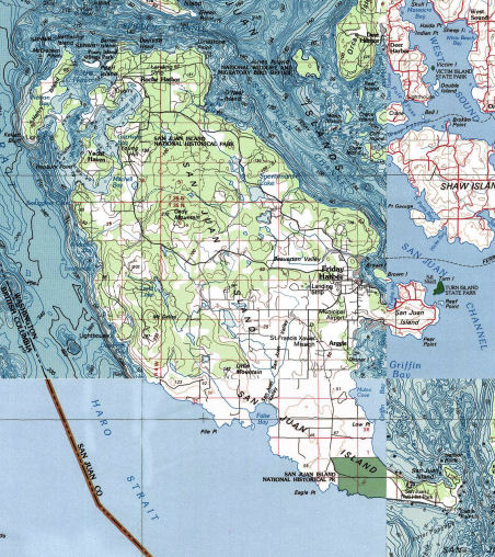 San Juan Island Wa Map San Juan Island Kayaking Map   Go Northwest! A Travel Guide
