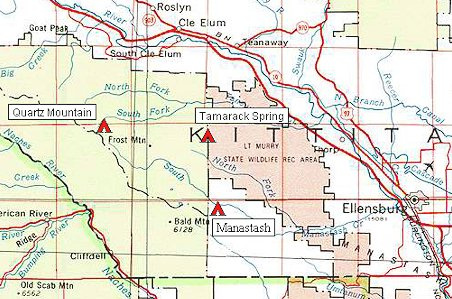 Map For Manastash Campgrounds Go Northwest A Travel Guide
