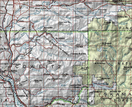 Mt St Helens Washington Map.Map Of Mount St Helens Go Northwest A Travel Guide