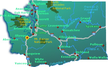 Washington State Map Go Northwest A Travel Guide