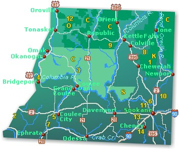 Northeast Washington Map - Go Northwest! A Travel Guide