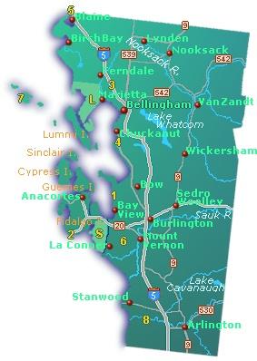 Northern Washington Map