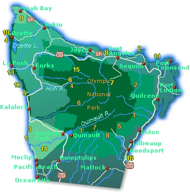 Map Of Olympic Peninsula Olympic Peninsula Map   Go Northwest! A Travel Guide