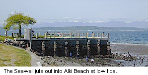 Alki Beach Seattle Map.Luna Park Seawall Viewpoint Go Northwest A Travel Guide