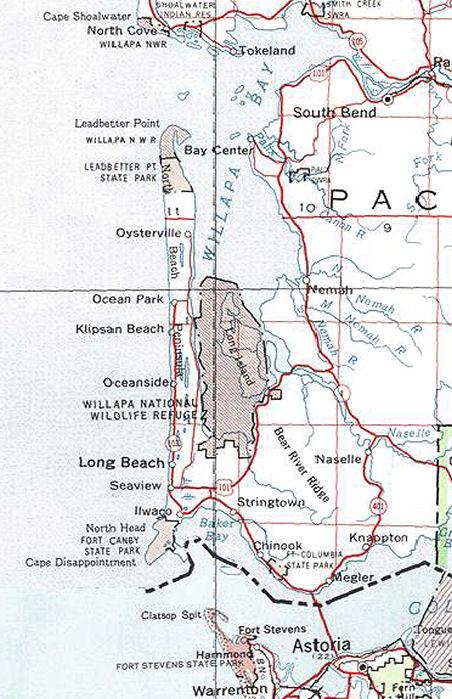 long beach peninsula washington map go northwest a travel guide