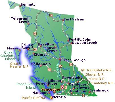 River Map Bc