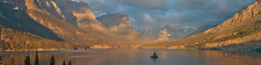 Saint Marys Lake in Glacier National Park