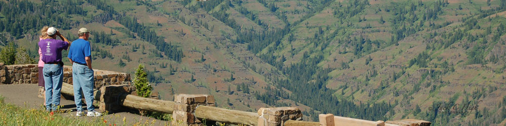 Scenic view at Hells Canyon overlook