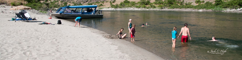 A nice access point for swimming in the Snake River