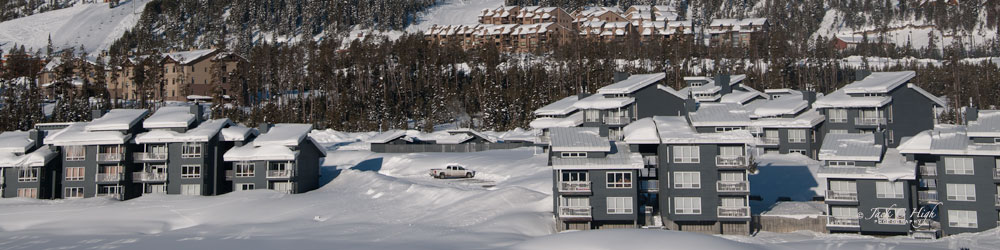 Stay warm in one of the condos in Big Sky, Montana.
