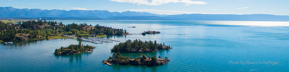 Island in Flathead Lake in Northwest Montana.