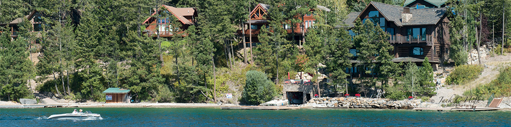 Beautiful homes on Flathead Lake in Northwest Montana.