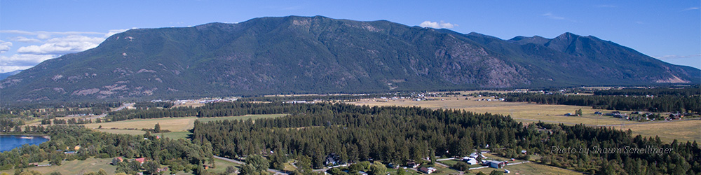 Aerial view of Flathead Valley in Northwest Montana.