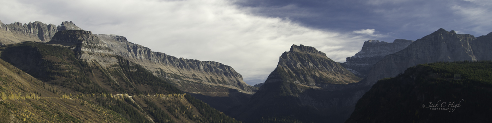 Dark and light at Glacier National Park