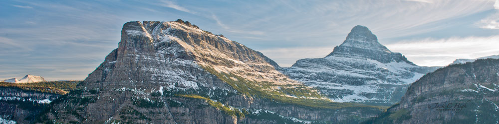Scenic peaks seen from Logan Pass