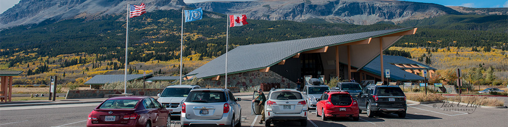 St. Mary visitor center in Glacier National Park.
