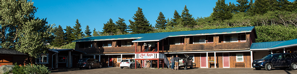 Red Eagle Motel and RV Park located above St. Mary.