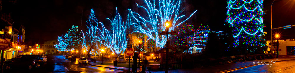 Christmas lights in downtown Leavenworth