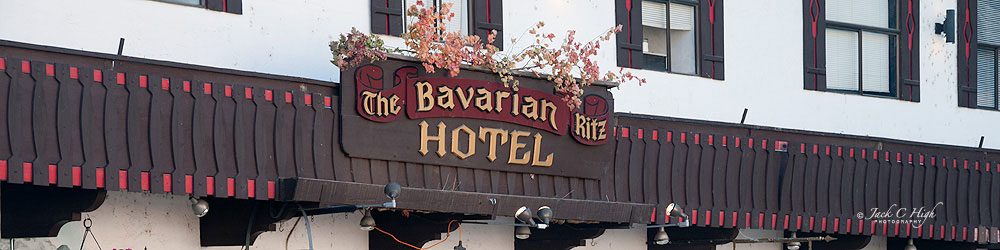 Bavarian Ritz Hotel sign