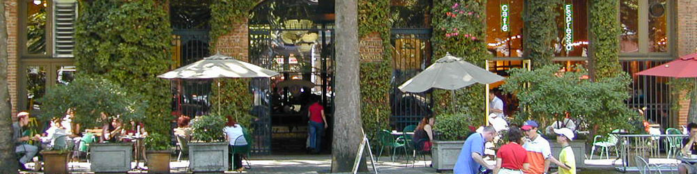People dining outside at a cafe