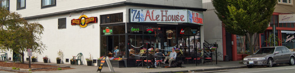 The 74th Street Ale House in the Green Lake neighborhood, Seattle