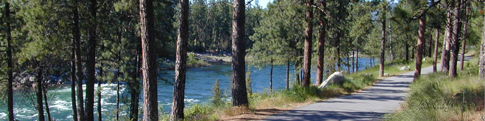 The Centenial Trail along the Spokane River