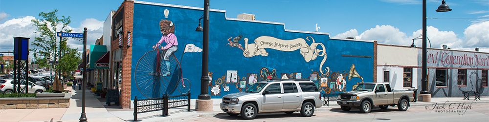Mural in downtown Gillette.